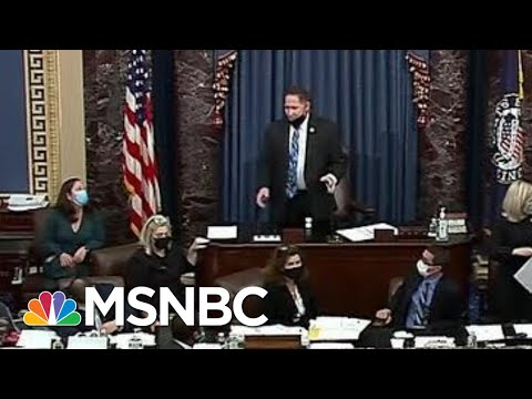 Vice President Mike Pence Appears To Be Escorted Out Of The Senate Chamber | MTP Daily | MSNBC
