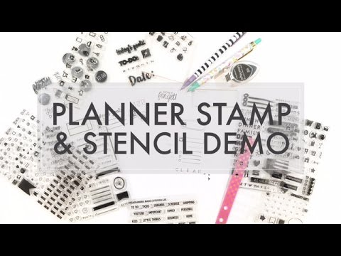 How To Use Planner Stamps & Stencils In Your Personal Planner // Stamping & Stencil Demo - 516vlogs