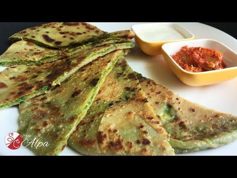 Palak Paratha Recipe / Spinach Paratha (Tortilla) - Kids Lunch Box Recipe