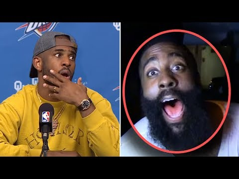 James Harden Says WE TRADED THAT BUM! After Russell Westbrook Trade! & Chris Paul IS HEATED