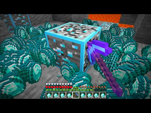 I started with a FORTUNE 30000 pickaxe in Minecraft UHC...
