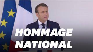Macron rend un hommage national aux soldats tués
