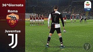 """Roma vs Juventus 36°Giornata •""""CR7: Rimonta Eccezionale su Punizione""""• PES 2019 Patch [Giù]"""