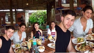 Priyanka Chopra and bf Nick Jonas enjoying lunch with her family in Goa 😍
