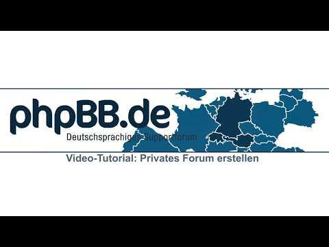 phpBB: Privates Forum erstellen