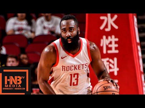 Houston Rockets vs Shanghai Sharks Full Game Highlights | 10.09.2018, NBA Preseason
