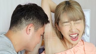 Waxing My Girlfriend's Armpits [Ft. sunnydahye]