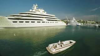 DILBAR Superyacht docking at OneOcean Port Vell