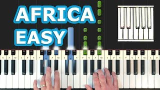TOTO - AFRICA - Piano Tutorial EASY - How To Play (Synthesia)