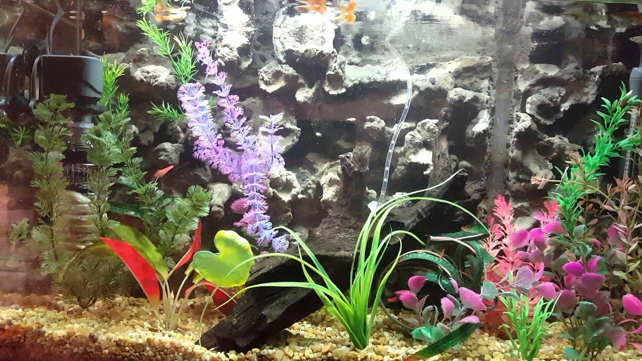 Diy foam spray 3d aquarium background