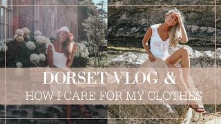 HOW I CARE FOR MY CLOTHES + Dorset Road Trip!  // Fashion Mumblr Vlog