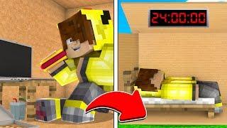 24-saat-karton-kutuda-kaldim-minecraft