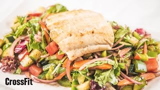 Nick's Zone: Greek Freak Salad With Halibut