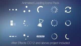 Animated Loading Icons   After Effects template