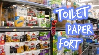 Making a Toilet Paper Fort in Walmart