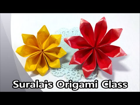 Origami Jasmine Flower Youtube