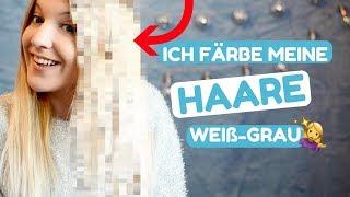 GRAU-WEIßE HAARE selber ZUHAUSE FÄRBEN - Gelbstich aus blonden Haaren entfernen l Kathinska