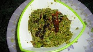 How to Cook Coriander Chutney (కొత్తిమీర పచ్చడి)  .:: by Attamma TV ::.