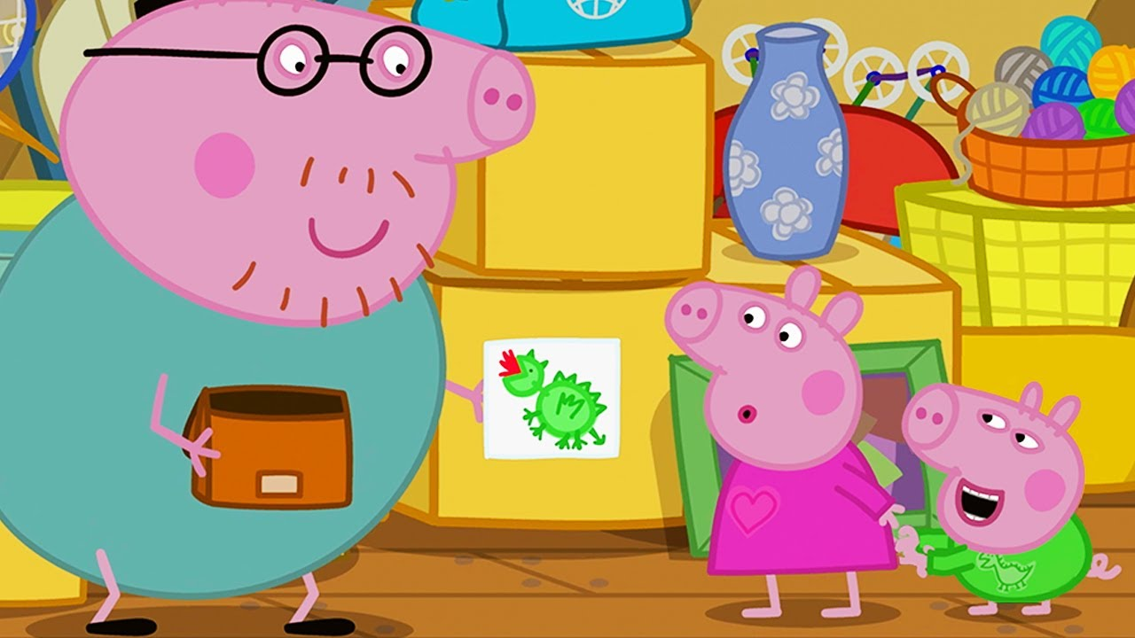 Peppa Pig Official Channel   Peppa and George wash the car (clip)