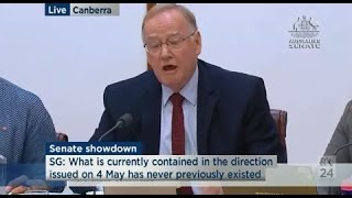 Brandis Vs Gleeson - Sen Ian Macdonald's recharacterisation of witness answers