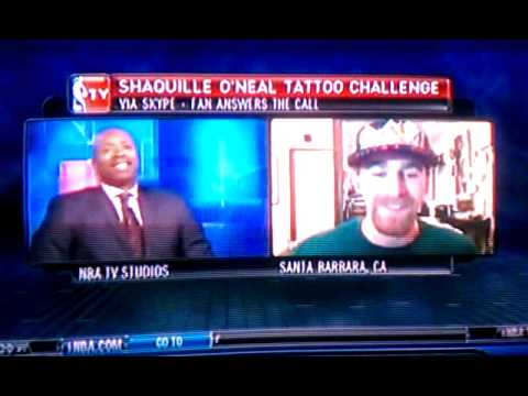 Shaquille o 39 neal 39 s tattoo challenge answered youtube for Shaquille o neal tattoos