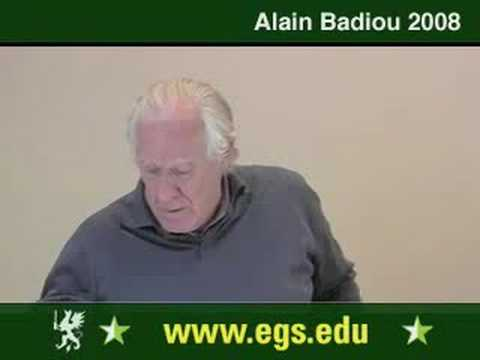 Alain Badiou. What Is Love. Sexuality And Desire. 2008. 2/12