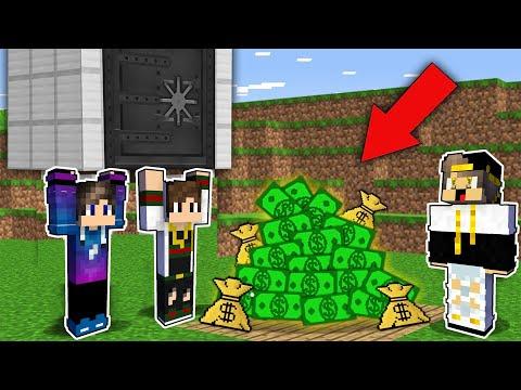 فلم ماين كرافت : سرقنا اكبر بنك في ماين كرافت (نهاية غير متوقعة و حزينة جدا)😱|MineCraft Movie