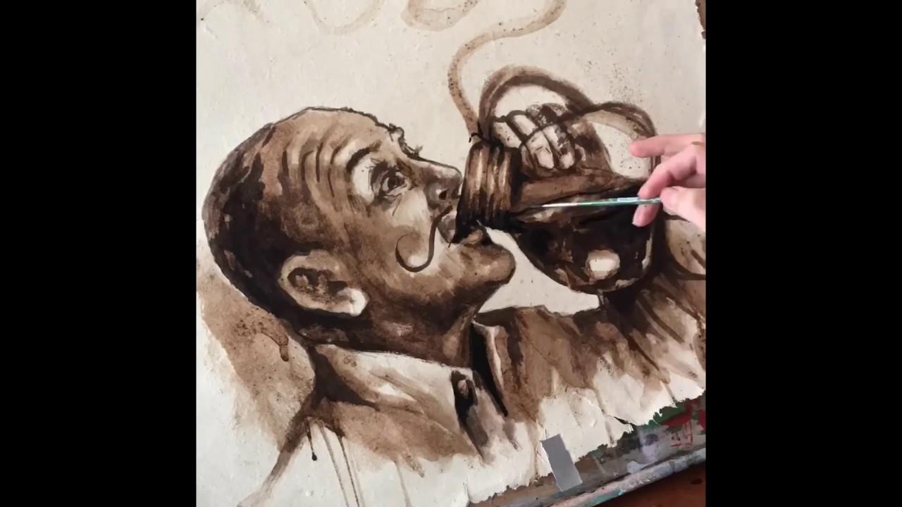 Coffee Art Painting Youtube