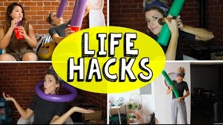 14 POOL NOODLE LIFE HACKS // Grace Helbig