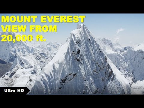 MOUNT EVEREST TOP HD View From Air | Himalayas View