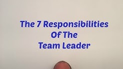 Team Leader Responsibilities