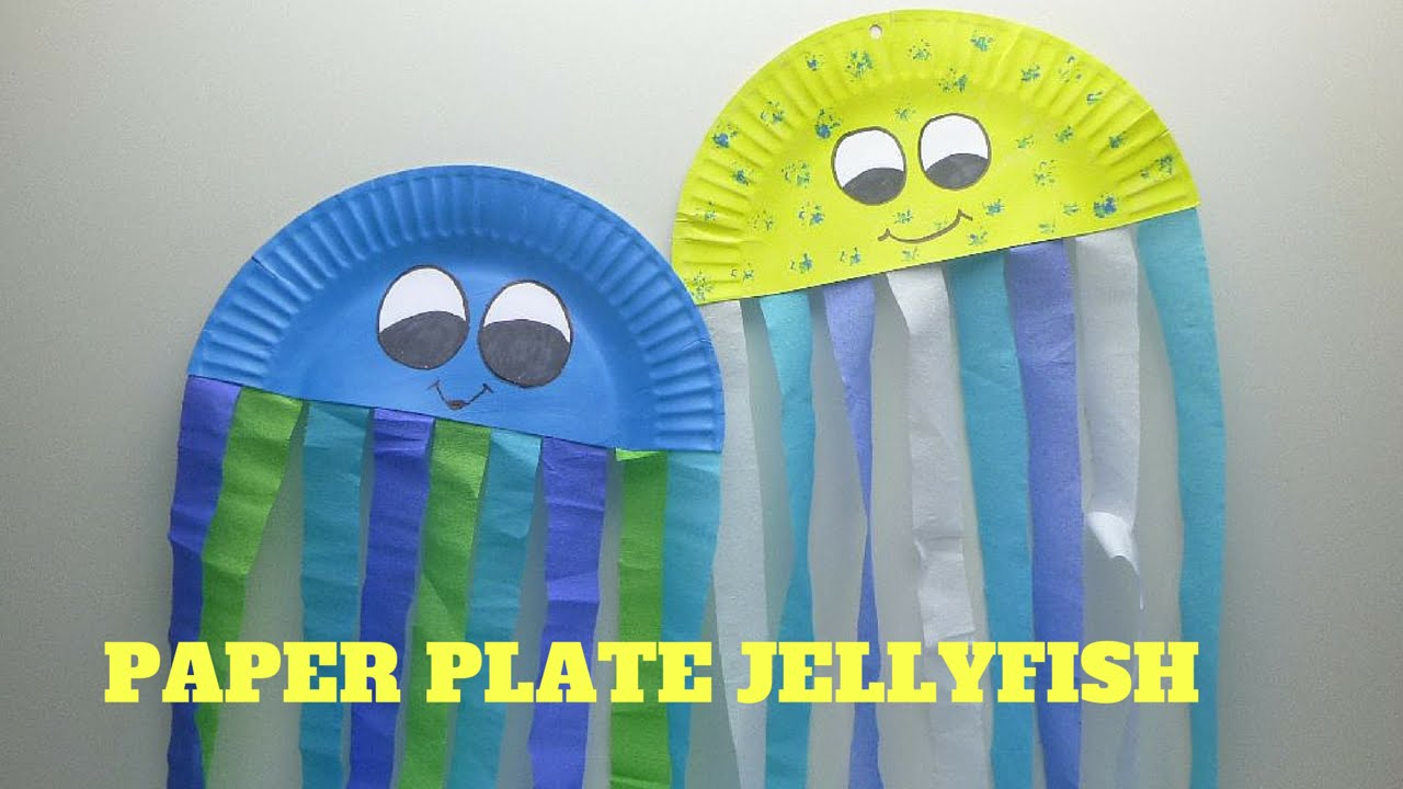 How To Make A Paper Plate Jellyfish Youtube