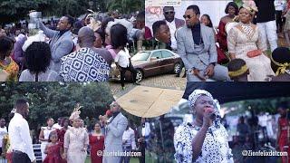 Rev Obofour Sprays Cash At Son's Wedding, Gives Car & Money To Couple