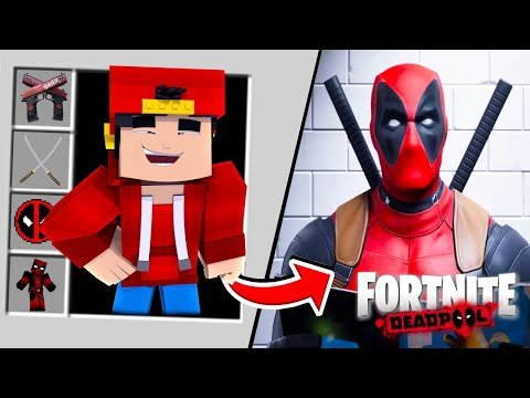 Minecraft - HOW TO BECOME DEADPOOL!!