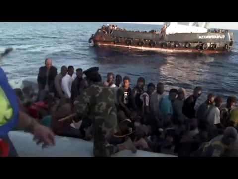 Video shows Libyan coastguard whipping rescued migrants
