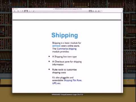 Presentación de Drupal Commerce en OpenExpo Ecommerce Barcelona
