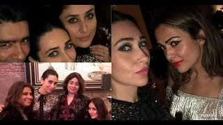 Kareena Kapoor Khan with Kajal anand and Karishma Kapoor at Mannat
