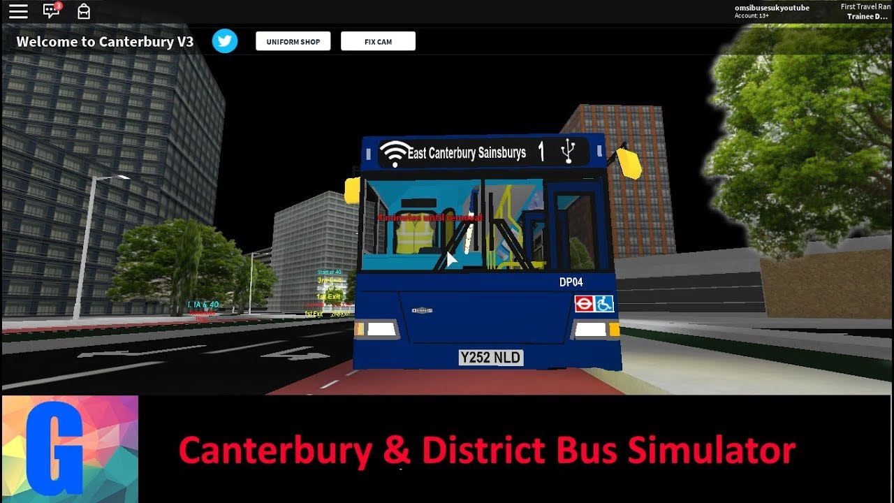 Canterbury District Bus Simulator V3 1 Route 1 Youtube