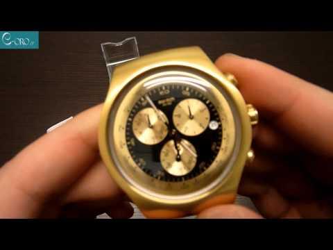 SWATCH Golden Block Black Ladies Watch YOG403G - E-oro.gr 98261be1032