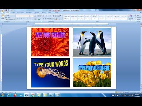 How to insert image in ms word | Picture insert in ms word | ms word tutorial