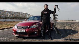 უხეში ტესტ დრაივი - Lexus ISF - საბურავი აფეთქდა დრიფტის დროს!!!