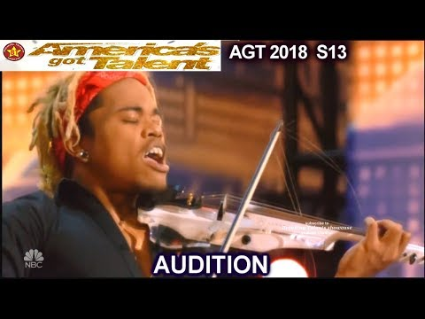 Brian King Joseph Electric Violinist INSPIRATIONAL America's Got Talent 2018 Audition AGT
