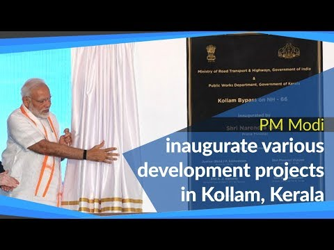 PM Modi inaugurates various development projects in Kollam, Kerala | PMO