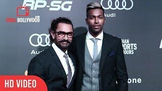 Hardik Pandya And Aamir Khan At Indian Sports Honours Awards 2017 | Viralbollywood