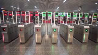 Sweden, Stockholm, train ride from Älvsjö to Huddinge, 3X elevator, 3X escalator