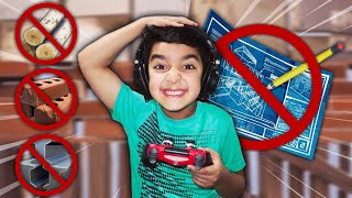 """Fortnite But """"NO BUILDING CHALLENGE"""" With My Little Brother! (Impossible Fortnite Challenge)"""