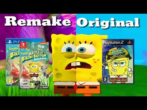 Spongebob Squarepants: Battle For Bikini Bottom Rehydrated Vs Original | Gameplay Comparison