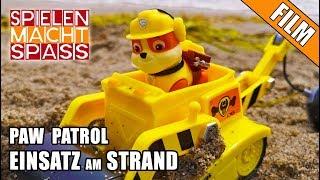 PAW Patrol 🐶 Spielzeug Kinderfilm | EINSATZ am STRAND | mit Spielzeugautos von Rubble, Chase & Skye Video
