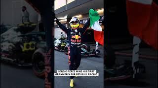 Sergio Pérez remporte sa première F1 pour @Red Bull Racing Honda #Shorts