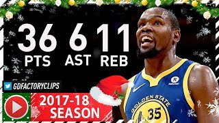 Kevin Durant CRAZY Full Highlights vs Lakers 2017.12.18 36 Pts, 11 Reb, 8 Ast, 3 Blks, CLUTCH